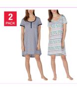 Jane And Bleecker Women's 2 Pack Short Sleeve Sleepshirt  Pajama Dresses - $11.72+