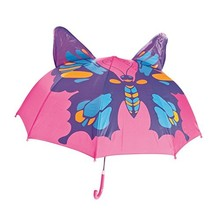 Babalu Kids Umbrella - Childrens 18 Inch Rainy Day Umbrella - Butterfly - $23.42