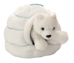 Plush Igloo With Polar Bear 25cm - $19.09