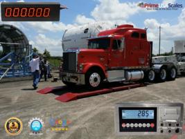 "Optima OP-923 Axle Truck Scale 10'x30"" 80,000 lb Indicator Printer 8"" Sc... - $8,099.00"