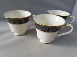 Carlyle Royal Doulton Tea Cup Set of 3 Teacups English Fine Bone China H... - $37.19