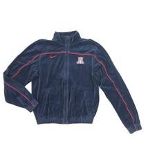 Nike ARIZONA Size Small Velvet Velour Jacket UofA WILDCATS Full Zip Blue... - $37.99