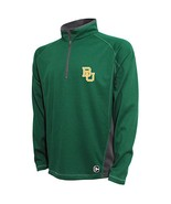 NCAA Baylor Bears Men's Textured Quarter Zip Pullover, XX-Large, Dk Grn/... - $27.95