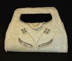 White Pearl Beaded Sequin Bag By Debbie Evening Purse Handbag Special Oc... - $24.00