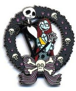 Disney Nightmare Before Christmas Jack & Sally Skellington Wreath pin - $16.01
