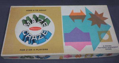 Vintage Maze Craze Board Game by Whitman Publishing 1969