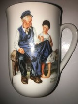 Norman Rockwell Museum Collection Collectible Coffee Cup Gold Rim - $9.89