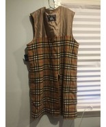 Vintage Burberry Trench Coat Liner - Nova Check Wool Lining Only ZIP BROKEN - $65.41