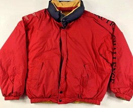 Rare Vtg NAUTICA Challenge Spell Out J Class 1937 Puffer Down Jacket 90s... - $71.36