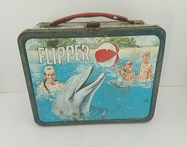 Vintage Flipper Metal Lunchbox Only King Seely Thrmos - 1966 - $93.50