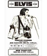 "Elvis Presley ""New Years Eve 1975"" Pontiac Stadium Stand-Up Display - Co... - $15.99"