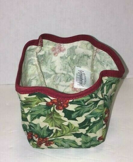 Primary image for Longaberger 2003 Melody Basket Liner ONLY American Holly New 27635135
