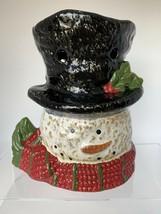 Yankee Candle Snowman Head Top Hat Tart Burner Holder #1281956 - $17.82