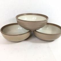 Noritake Stoneware MADERA IVORY 8474 Lot of 3 Cereal Bowls 6.5 Inch READ - $50.00