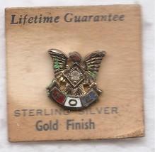 Vintage WWII Era Fraternal Order Of Eagles Sterling Gold Vermeil Sm. Lap... - $12.50