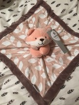 Carters Fox Security Blanket NWT Lovey Plush Orange Brown Leaves Blankie... - $19.79
