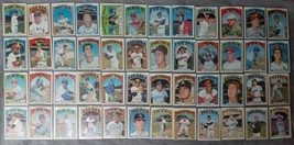 1972 Topps Baseball Complete Hall of Fame Player Card Set 48 Cards in All - $599.99