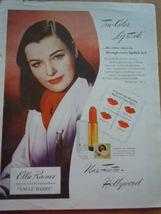 Vintage Tru-Coler Max Factor Ella Rainer Print Magazine Advertisement 1945 - $3.99