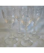 Libbey Rock Sharpe 1013 Arvida Wine Goblet Stem Set of 4 - $60.28