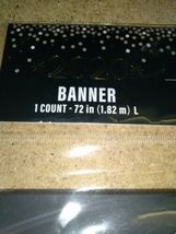 """72"""" (1.82m) Length year 2020 black BANNER Decoration ,party,collect (1pc) sealed image 3"""
