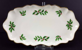"LENOX China Holiday Dimension 10-1/8"" Oblong Tray Serving Cookies Dinner... - $24.74"