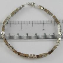 Pulsera Giadan de Plata 925 Hematites Brillante y 8 Diamantes Negros Mad... - $200.31