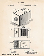 1888 Camera Patent Art Print Gift Ideas For Photographers Photo Lovers 1... - $17.33