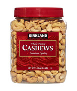 Kirkland Signature Whole Fancy Premium Quality Cashews 2.5 lb Exp. 09/20... - $24.99