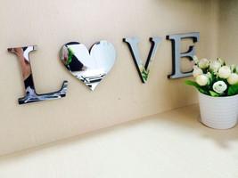 10cmx8cmx1.2cm(c) wedding love letters 3D mirror wall stickers Alphabet LOGO wal - $5.99