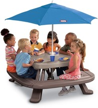 Little Tikes Fold 'n Store Picnic Table With Market Umbrella - $160.33