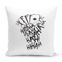 """Joker Laugh Playing Cards Throw Pillow  Joker 16"""" Stuffed Decorative Pillow - £21.86 GBP"""