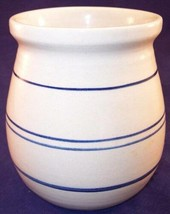 "Amy Rivers 5-1/2"" Crock with Blue Stripes Marshall Texas Pottery ?? - $22.99"