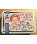 Dans Bulle SAVON de la FRANGINE VANILLE ROSE JASMIN SOAP in Cute Tin - $9.99