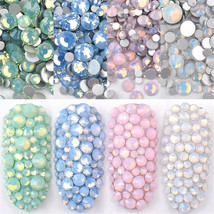 DIY Multi Size 3D Opal Nail Rhinestones Crystal Glass Gems For UV Gel Na... - $2.60