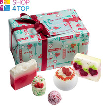 Be Mine Gift Pack Bomb Cosmetics Strawberry Jasmine Handmade Natural New - $23.45