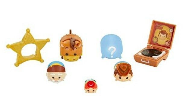 DISNEY TSUM TSUM SERIES 7 WOODY'S ROUND UP 7 PIECE TOY STORY SET MYSTERY FIGURE