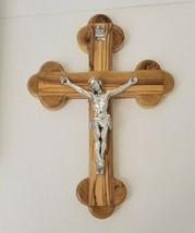 "Olive Wood 9-3/4"" Cross Crucifix Jerusalem 14 Stations  - $37.34"