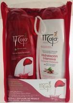Maja Gift Set Bath Gel 13.5 Oz. & Body Lotion 13.5 Oz. With Free Loofah-Borla Y