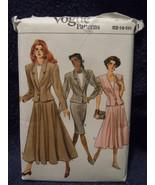 Vogue Misses / Petite Size 12 – 16 Jacket Skirt #9977 Uncut  1987 - $6.99