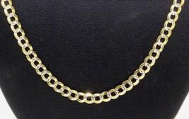 "Mens Women's 14k Yellow Gold Curb Diamond Cut Chain Necklace 3.6MM 16"" #20410 - $240.33"