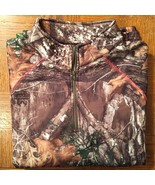 Womens REALTREE Edge Performance Camo 1/4 Zip Mock Pullover *Size Large ... - $22.24