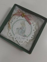 1991 Precious Moments Porcelain Snowflake Ornament To My Friend  - $4.95