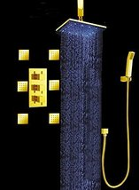 "Luxury Bathroom Shower Set with Luxury 12"" Water Power LED Shower Head (Ceiling  - $940.45"