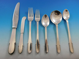 Beaded by Georg Jensen Sterling Silver Flatware Set for 8 Service 56 pcs Dinner - $11,500.00