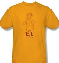 E.T T-shirt Extra-Terrestrial classic retro 1980's movie gold cotton tee UNI501 image 2