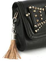 Tassel Key Chain Handbag Charm Accessory Key Fob Claw Hook Silvertone Beige 2 image 2