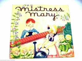 Vintage Pop Up Story Book Mistress Mary Geraldine Clyne 1950s - $13.64