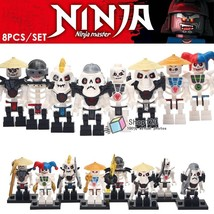 8pcs/set Ninjago Movie Skulkin Skeleton Army Chopov Frakjaw Samukai Minifigures - $14.50