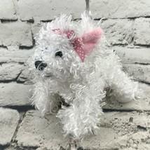 Ganz Webkinz Lil'Kinz Yorkie Terrier Puppy Plush White Shaggy Stuffed To... - $9.89