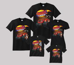 Blaze Birthday Shirt Personalized Custom T-shirt Family Black shirts - $19.95+